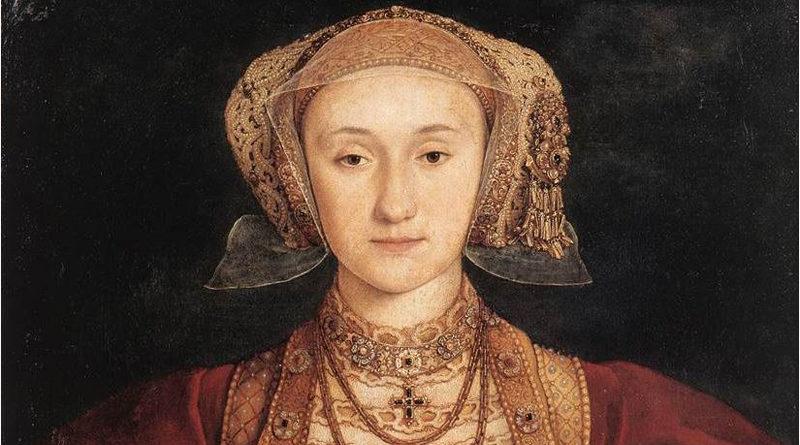 Ausschnitt eines Bildes von Hans Holbein: Anna von Kleve - Von Hans Holbein der Jüngere - Web Gallery of Art:  Image Info about artwork, Gemeinfrei, https://commons.wikimedia.org/w/index.php?curid=17285