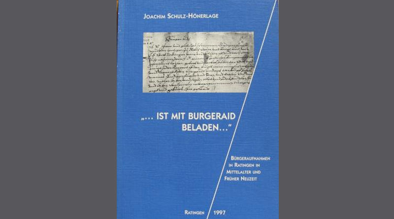 """Joachim Schulz-Hönerlage """"...ist mit Burgeraydt beladen..."""" Straten"""