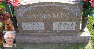 Alda Wassenberg, geb. Block (1921-2007)