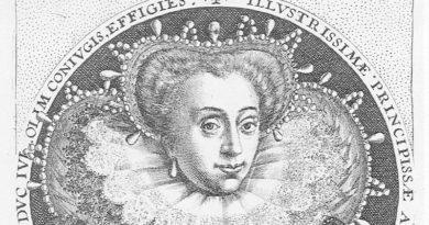 Jakobe von Baden, Ausschnitt aus einem Kupferstich von Crispin de Passe um 1600