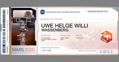 Dein Name auf dem Mars - Aktion der NASA