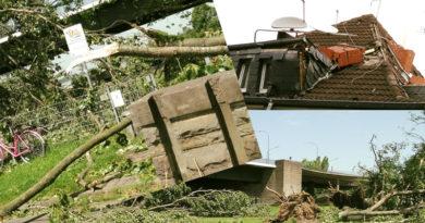 9 Juni 2014: Pfingstmontag-Unwetter in Düsseldorf richtet schwere Zerstörungen an