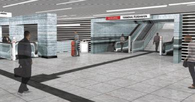 """U81: - Entwurf """"frequencies"""" setzt sich für den U-Bahnhof im Flughafen durch"""