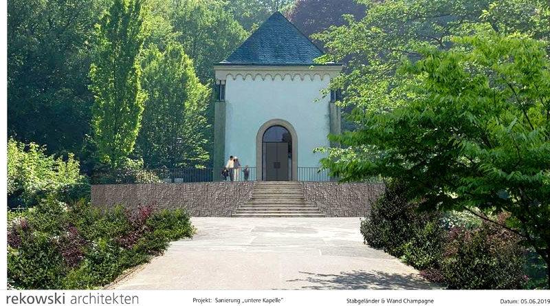 Visualisierung: Neugestaltung des Vorplatzes der Unteren Kapelle - Bild: © rekowski architekten